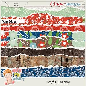 Joyful Festive Torn Edges