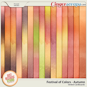 Festival of Colors: Autumn Ombre Papers by JB Studio