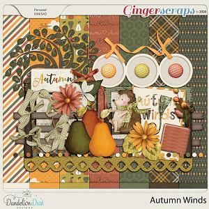 Autumn Winds Digital Scrapbook Kit By Dandelion Dust Designs
