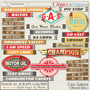 Cars Galore (word bits)
