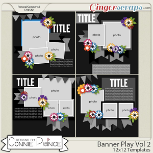 Banner Play Volume 2 - 12x12 Temps (CU Ok) by Connie Prince