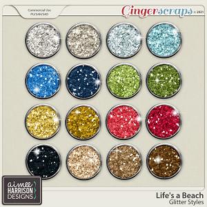 Life's a Beach Glitters by Aimee Harrison