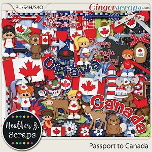 Passport to Canada KIT by Heather Z Scraps