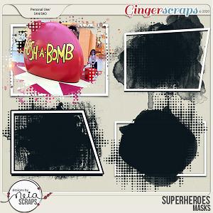 Superheroes - Masks & Frames by Neia Scraps