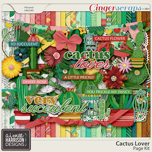 Cactus Lover Page Kit by Aimee Harrison
