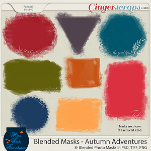 Blended Photo Masks: Autumn Adventure by Miss Fish Templates