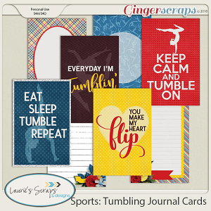 Sports: Tumbling Journal Cards