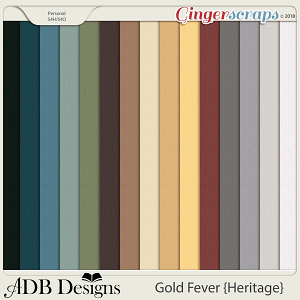 Gold Fever Heritage Cardstock Solids  by ADB Designs