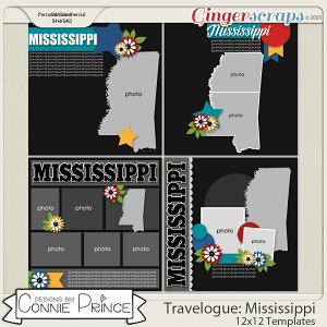 Travelogue Mississippi - 12x12 Temps (CU Ok) by Connie Prince