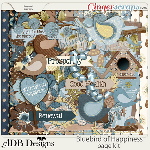 Bluebird of Happiness Page Kit by ADB Designs