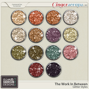 The Work In Between Glitters by Aimee Harrison
