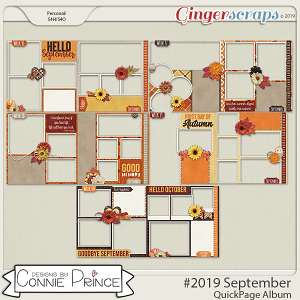 #2019 September - Quick Pages by Connie Prince