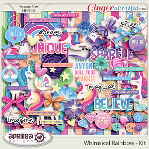 Whimsical Rainbow - Kit by Aprilisa Designs