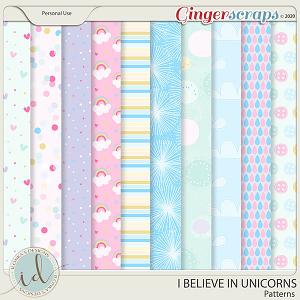 I Believe In Unicorns Patterns by Ilonka's Designs