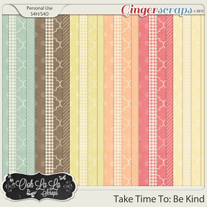 Take Time To Be Kind Pattern Papers