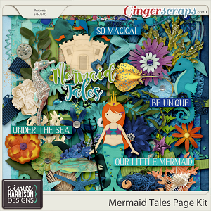 Mermaid Tales Page Kit by Aimee Harrison