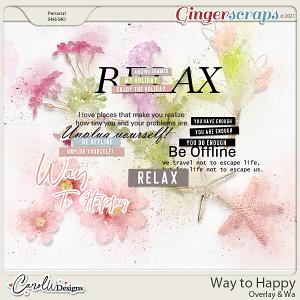Way to Happy-Overlay&word art