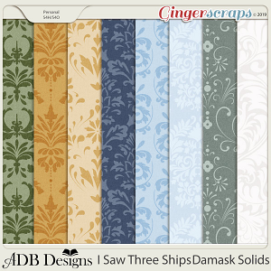 I Saw Three Ships Damask Solids by ADB Designs