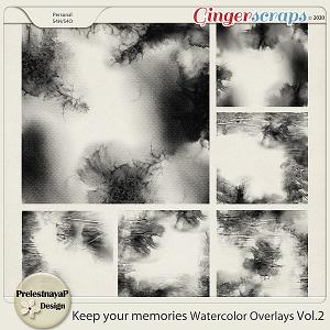 Keep your memories Watercolor Overlays Vol.2