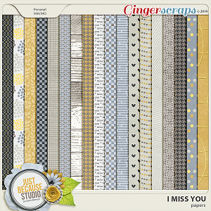 I Miss You Papers by JB Studio