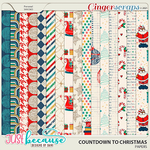 Countdown to Christmas Papers by Just Because Studio