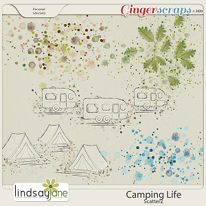 Camping Life Scatterz by Lindsay Jane