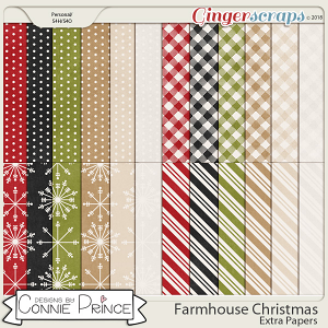 Farmhouse Christmas - Extra Papers by Connie Prince