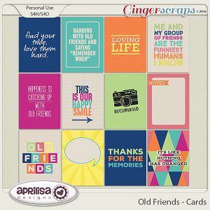Old Friends - Cards by Aprilisa Designs