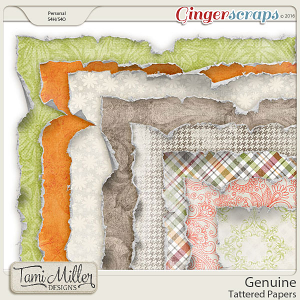 Genuine Tattered Papers by Tami Miller Designs