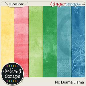 No Drama Llama ARTSY PAPERS by Heather Z Scraps