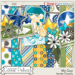 My Guy - Border Clusters by Connie Prince