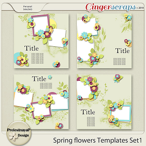 Spring flowers Templates Set1