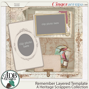 Remember Layered Album Page by ADB Designs