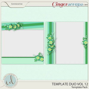 Template Duo Vol 12 by Ilonka's Designs