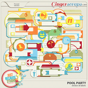 Pool Party Stickers & Labels by JB Studio