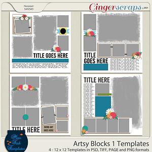 Artsy Blocks 1 Templates by Miss Fish