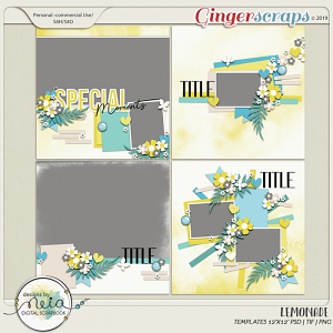 Lemonade - Templates - by Neia Scraps