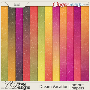 Dream Vacation: Ombre Papers by LDragDesigns