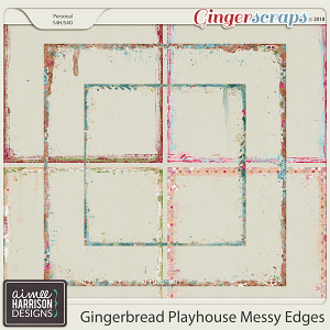 Gingerbread Playhouse Messy Edges by Aimee Harrison