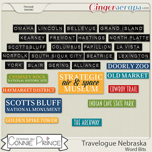 Travelogue Nebraska - Word Bits by Connie Prince