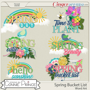 Spring Bucket List - Word Art Pack by Connie Prince