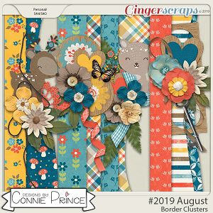 #2019 August - Border Clusters by Connie Prince