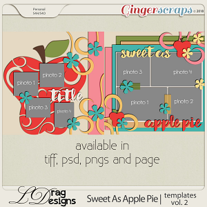 Sweet As Apple Pie: Templates Vol.2 by LDragDesigns