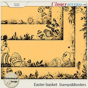 Easter basket Stamps & Borders
