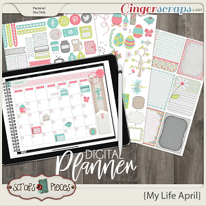 My Life April Planner Pieces - Scraps N Pieces