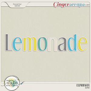 Lemonade - Alpha - by Neia Scraps