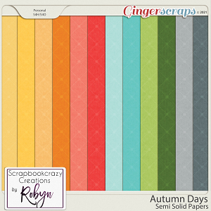 Autumn Days Semi-solid papers by Scrapbookcrazy Creations