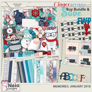 Memories 2018 - January - Bundle + Plus *FWP* - By Neia Scraps