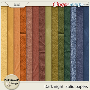 Dark night Solid papers