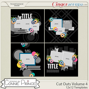 Cut Outs Volume 4- 12x12 Temps (CU Ok) by Connie Prince